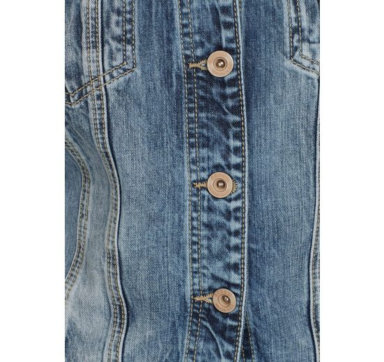 auffälliger mit hinten Jeansjacke Stickerei SOCCX q74EYE