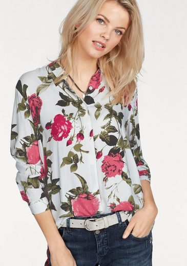 B.young Shirt Blouse Florelle, With Beautiful Roses-all-over Print