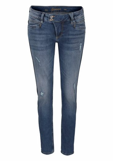 Glücksstern Stretch-Jeans Nina, Seitenband-Look-Wascheffekt