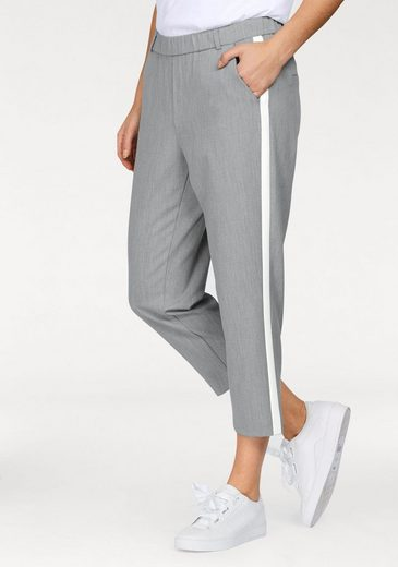 Greystone Pull-on Pants, With Contrasting Stripes At The Side Seam
