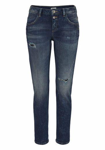 Glücksstern Boyfriend-Jeans Daisy, mit Dirty-Washed und Used-Effekten