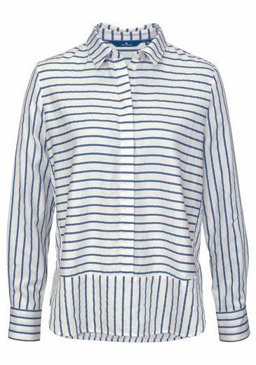 Tom Tailor Hemdbluse, im trendigem Streifenmix