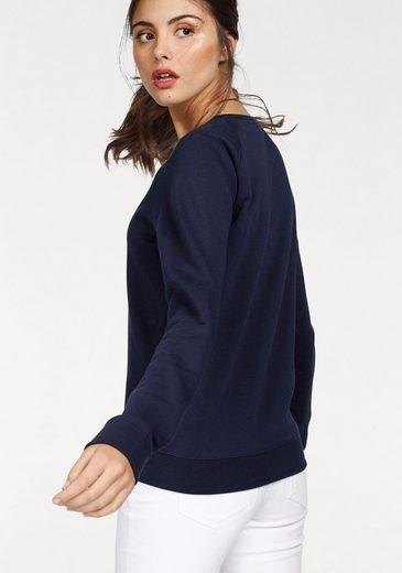 Gant Sweater, mit kontrastfarbenem Logodruck