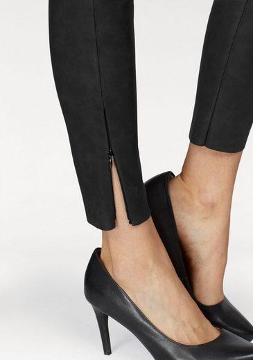 minimum Lederimitathose Sidonie Legging, mit Reißverschluss am Hosenbein