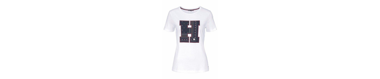 Tommy Tommy Hilfiger mit mit Shirt T Hilfiger Frontprint Shirt T BrSrOwI