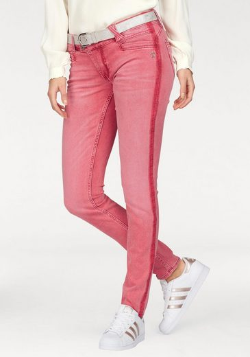 Lucky Star Slim-fit Jeans Nina, Trendy Colored Denim In Red