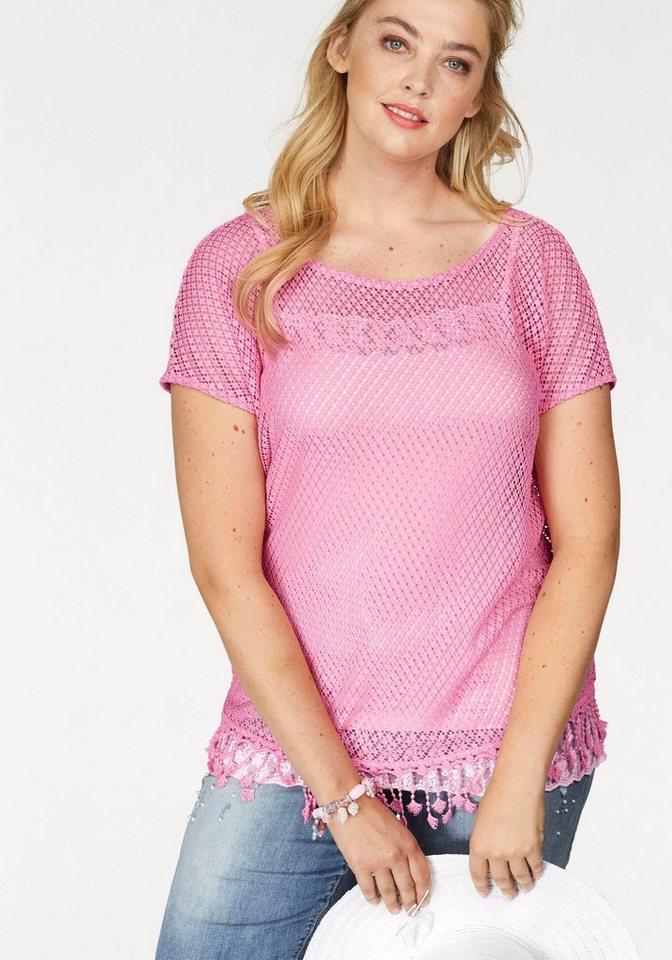 buy popular fced6 d33a6 NoSecret Netzshirt mit Bommeln im Boho Style | OTTO