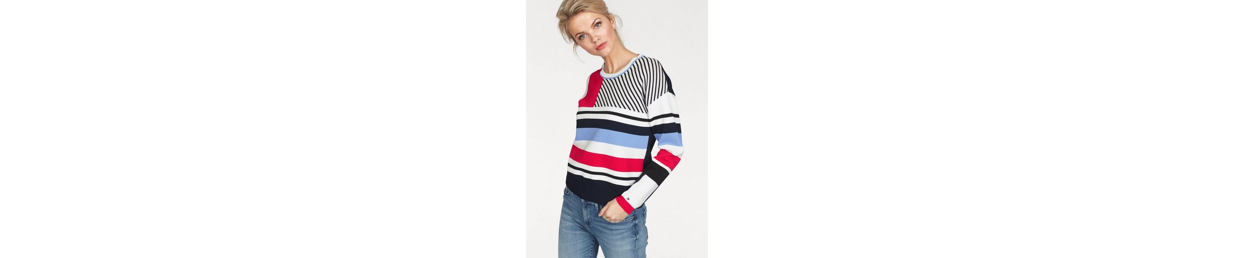Tommy Hilfiger Strickpullover PILAUX GRAPHIC, im trendy Colourblocking