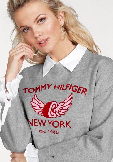 Tommy Hilfiger Sweatshirt ABIAN, mit großem Flockprint