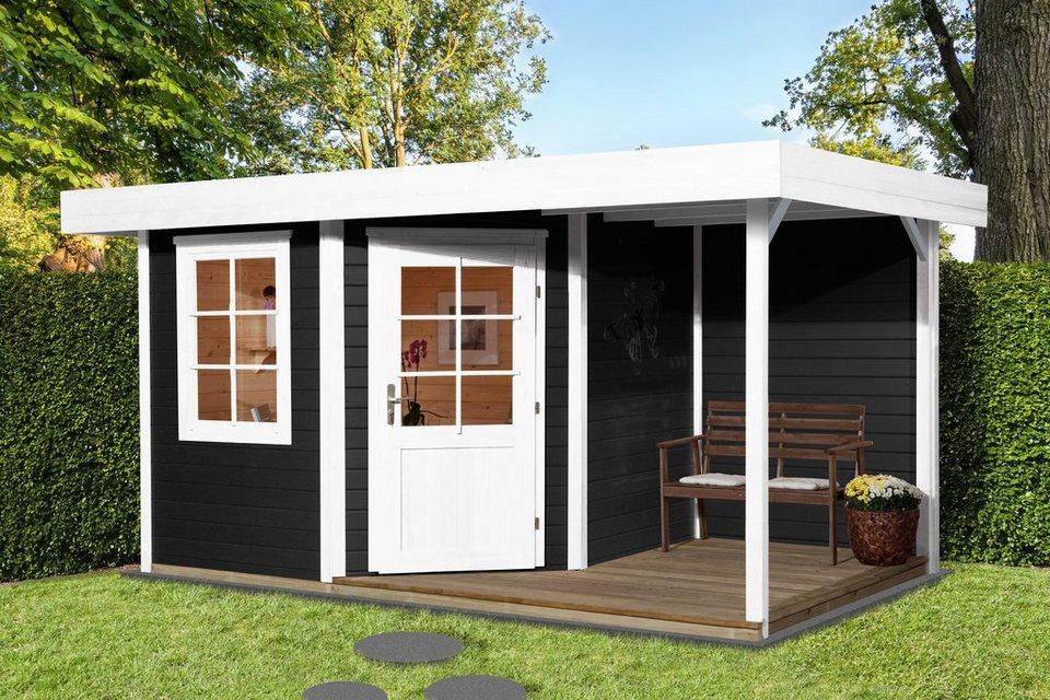 weka set gartenhaus designhaus 213a gr 2 bxt 501x338 cm anbaudach mit r ckwand und. Black Bedroom Furniture Sets. Home Design Ideas