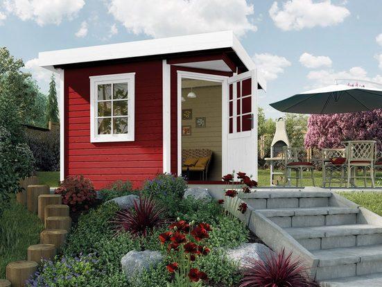 WEKA Gartenhaus »Designhaus 213 Gr.2«, BxT: 338x338 cm, inkl. Fußboden
