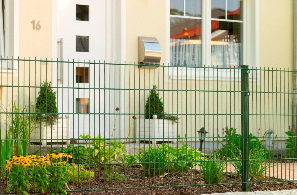 PEDDY SHIELD Set: Doppelstabmattenzaun , je 2 Stk. in 3 verschiedenen Höhen, grün | Garten > Zäune und Sichtschutz | Stahl | Peddy Shield