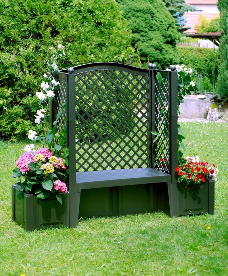 khw gartenbank london kunststoff 174x49x139 cm gr n online kaufen otto. Black Bedroom Furniture Sets. Home Design Ideas