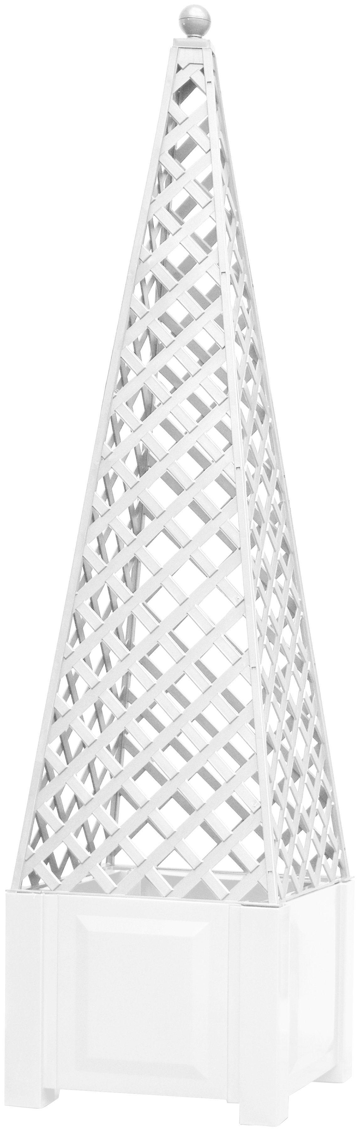 KHW Rankgitter , zum Nachrüsten, weiß, BxTxH: 43x43x140 cm | Garten > Pflanzen > Pflanzkästen | Baumhaus Verlag