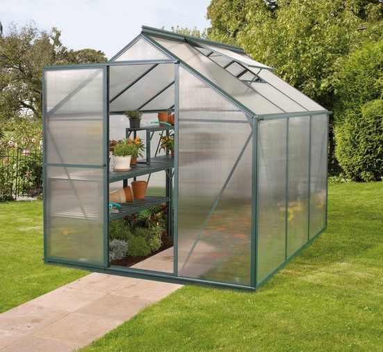 VITAVIA Gewächshaus »Triton 3800«, BxTxH: 190x190x207 cm, grün, 4 mm