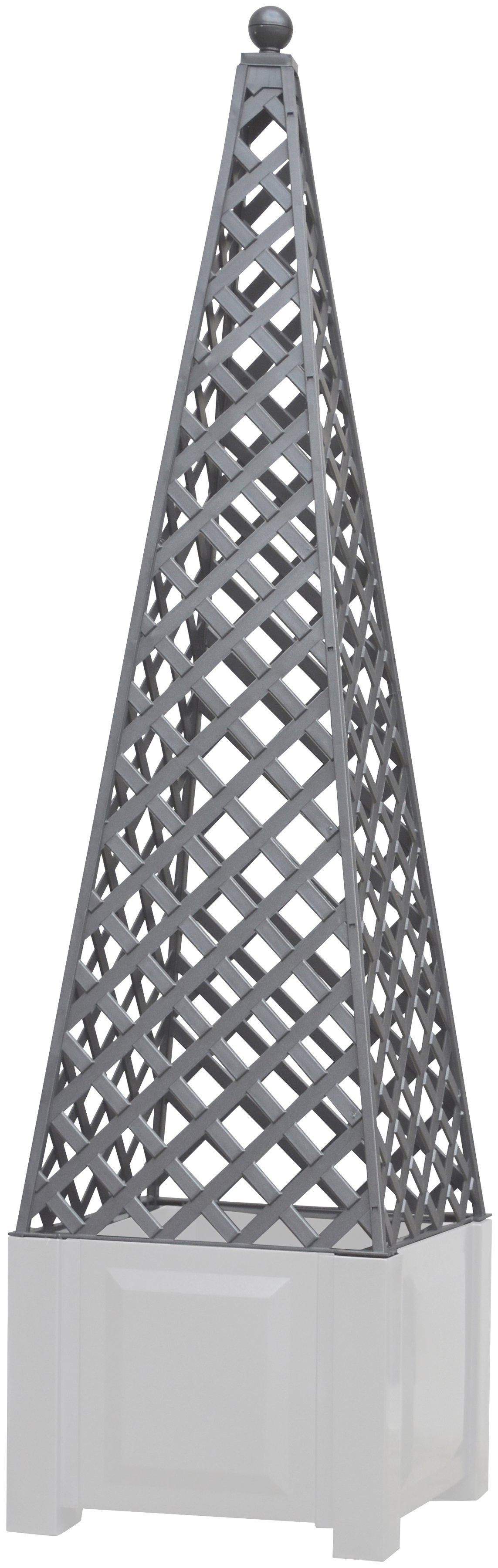 KHW Rankgitter , zum Nachrüsten, grau, BxTxH: 43x43x140 cm