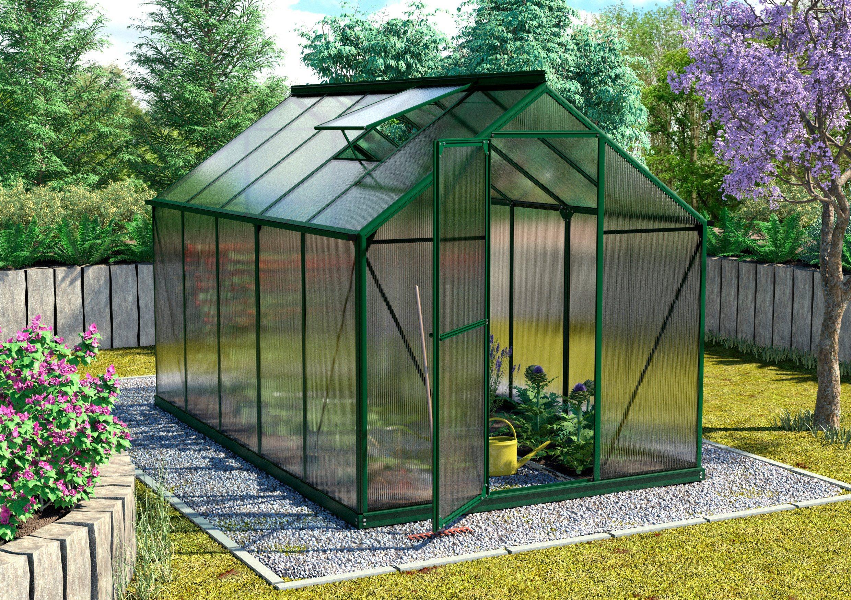 VITAVIA Gewächshaus »Triton 6200«, BxTxH: 190x315x208 cm, grün, 6 mm | Garten > Gewächshäuser | Vitavia