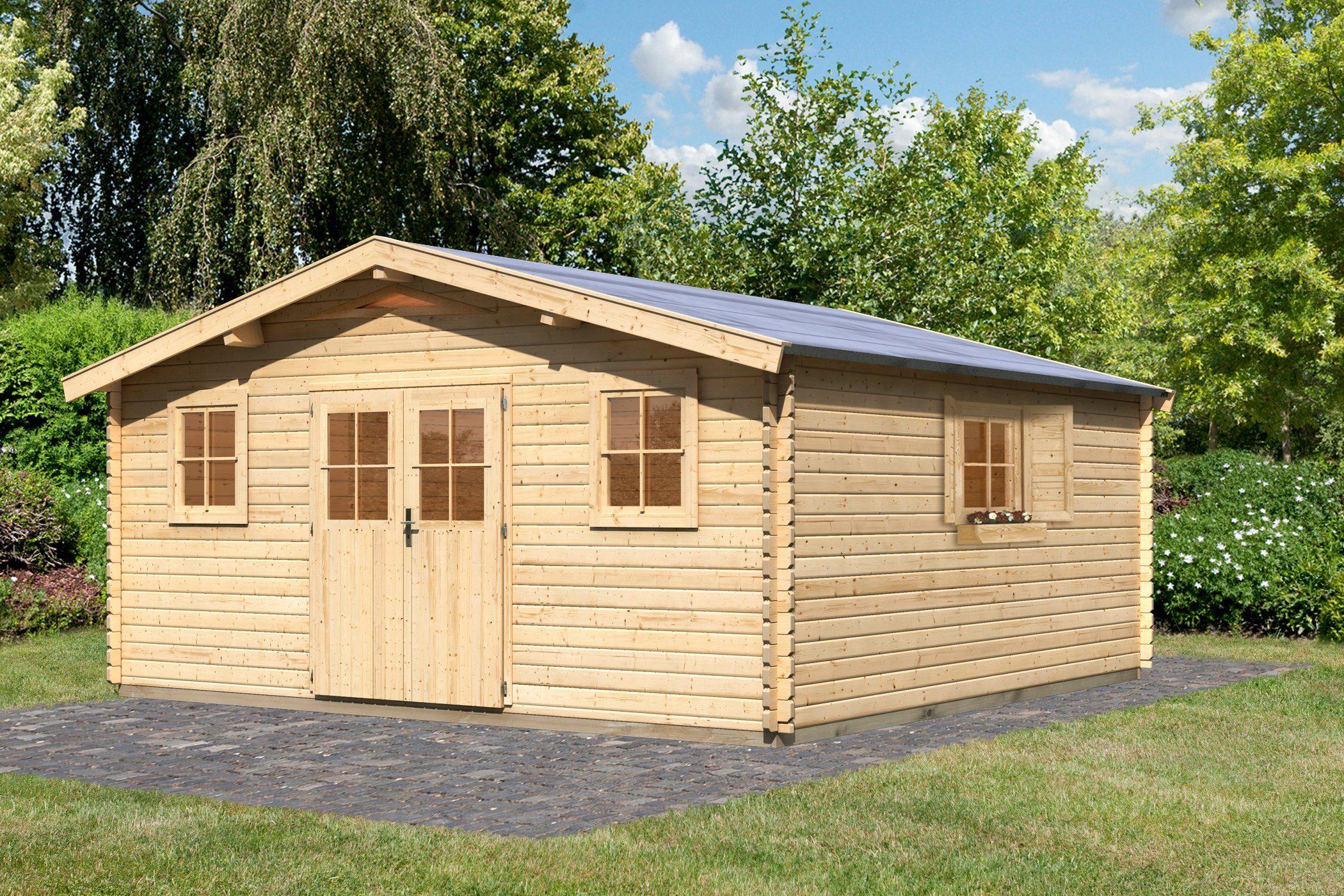 Gartenhaus »Köpenick 8«, BxT: 507x507 cm, natur