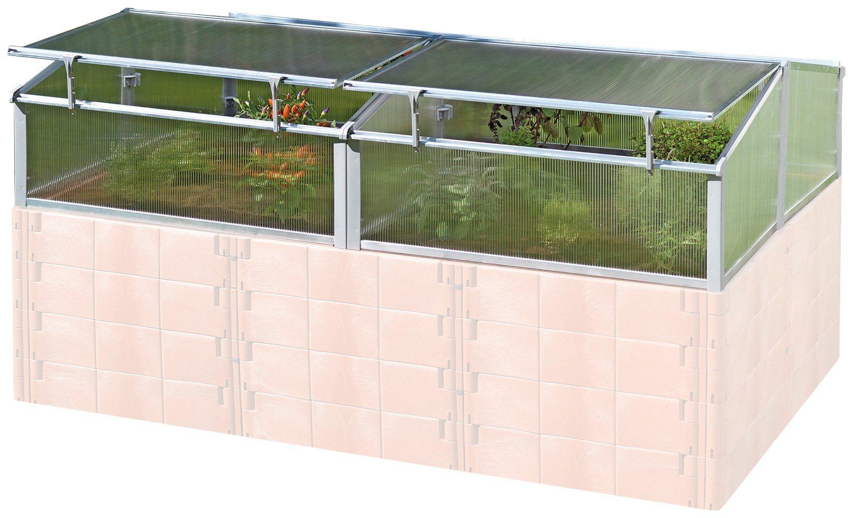 JUWEL Hochbeetabdeckung »Thermo-Frühbeet«, für »Profiline Größe 2«, BxTxH: 188x118x40/30 cm | Garten > Gewächshäuser | Polycarbonat | Juwel