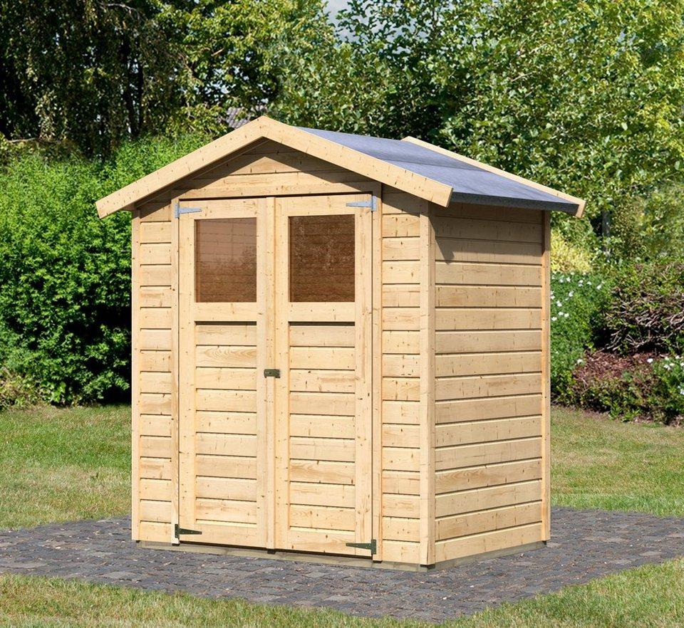 Konifera gartenhaus dahme 1 bxt 180x123 cm otto for Einfaches holzhaus bauen