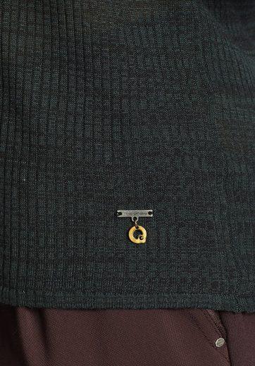 khujo Langarmshirt FANTASIA, mit leichter Transparenz