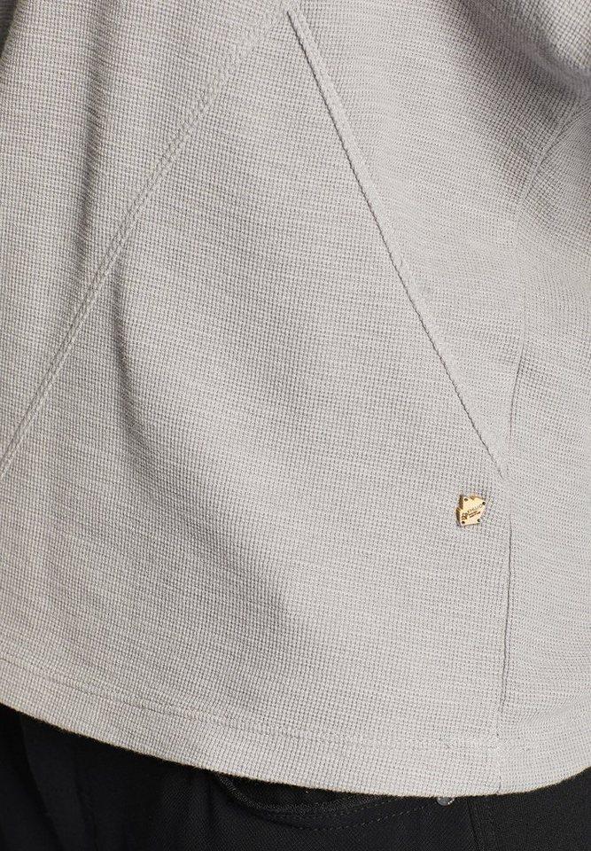 khujo Langarmshirt »HARANA« mit Ziernähten