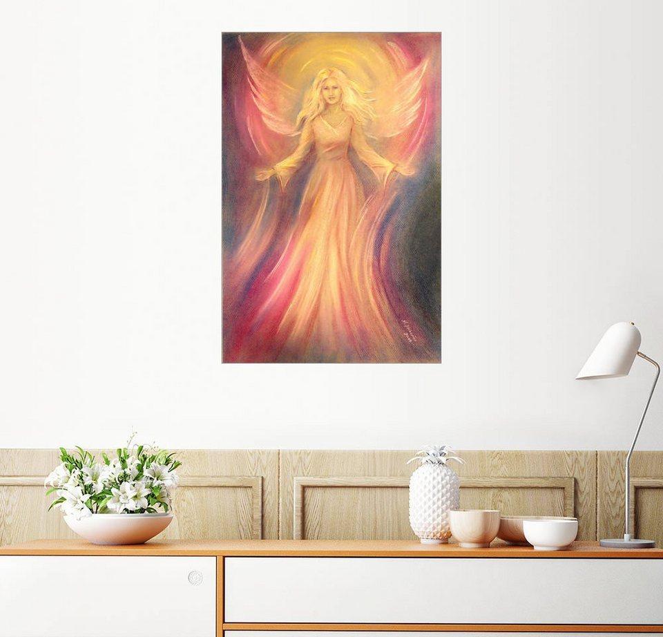 Posterlounge Wandbild   Marita Zacharias »Engel Licht Liebe   Spirituelle  Malerei«
