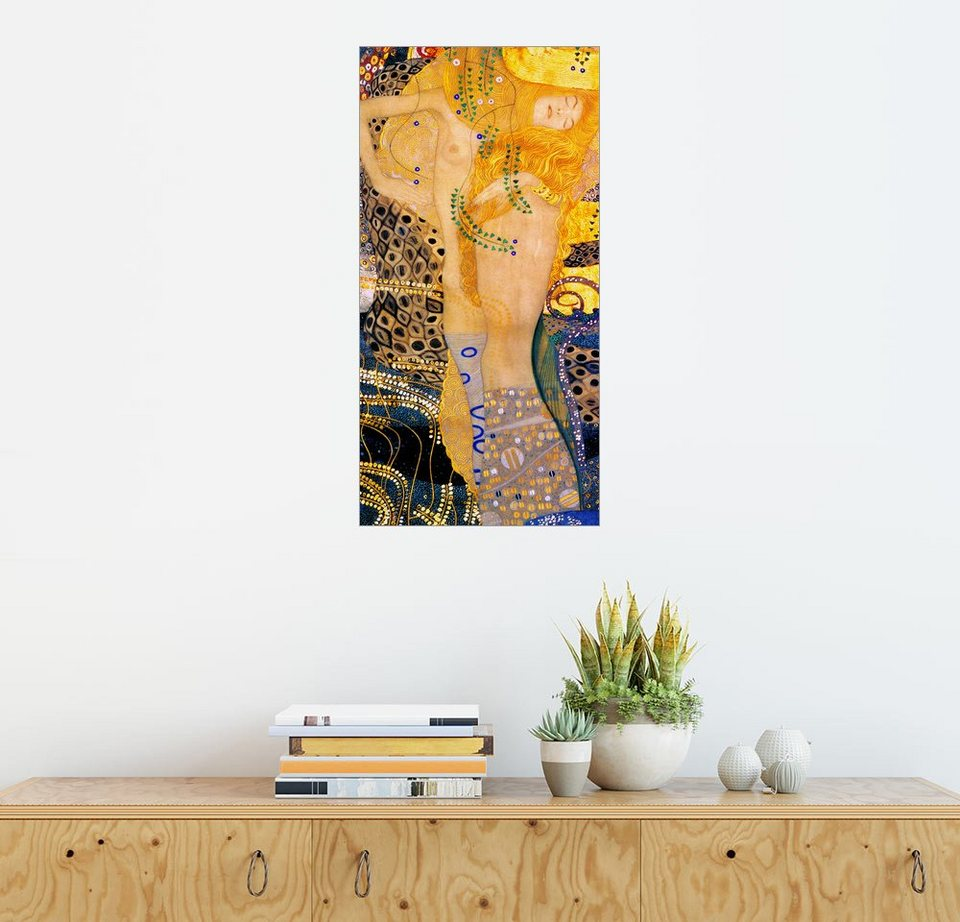posterlounge wandbild gustav klimt wasserschlangen i online kaufen otto. Black Bedroom Furniture Sets. Home Design Ideas