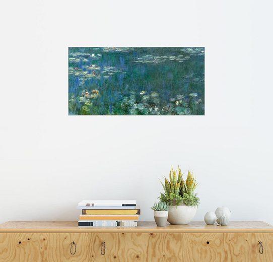 Posterlounge Wandbild - Claude Monet »Seerosen, grüne Reflexionen 1«