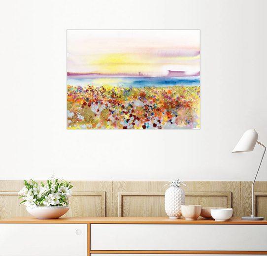 Posterlounge Wandbild - Tara Thelen »Feld der Freude, Abstrakte Landschaft«