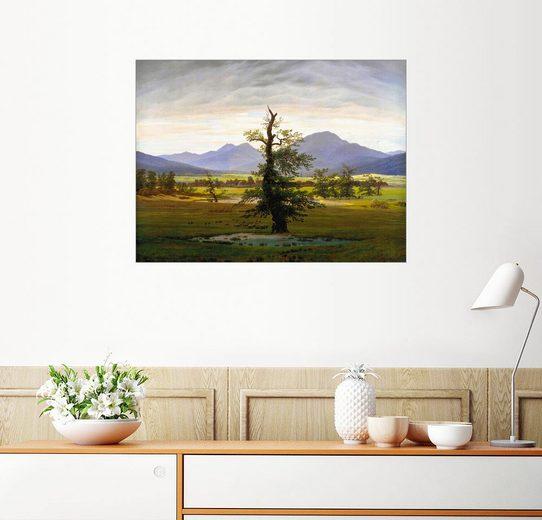 Posterlounge Wandbild - Caspar David Friedrich »Einsamer Baum«