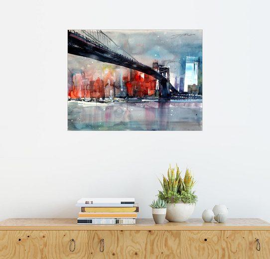 Posterlounge Wandbild - Johann Pickl »New York, Brooklyn Bridge IV«