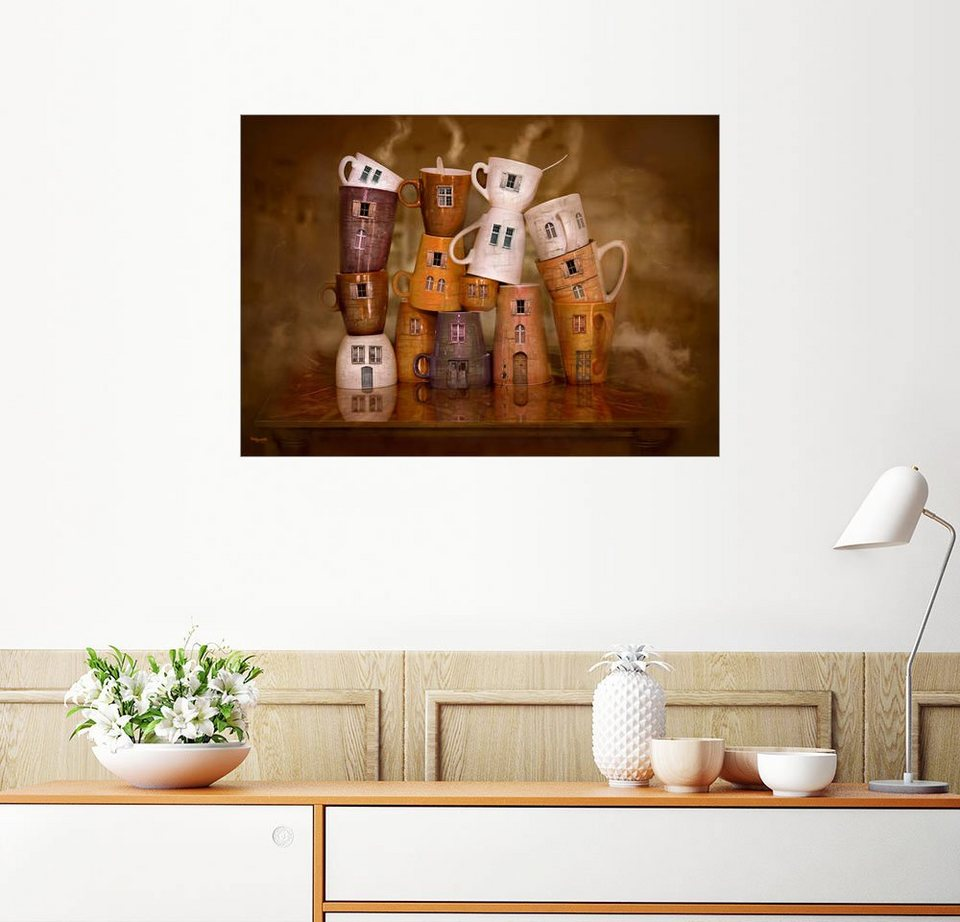 Posterlounge Wandbild - teddynash »Kaffee Zeit in der Küche« online ...