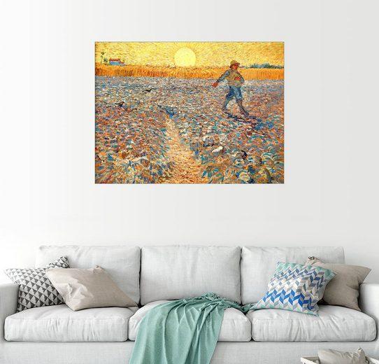 Posterlounge Wandbild - Vincent van Gogh »Sämann bei untergehender Sonne«