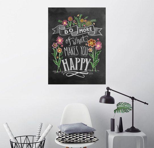 Posterlounge Wandbild - Lily & Val »Tu was Dich glücklich macht«