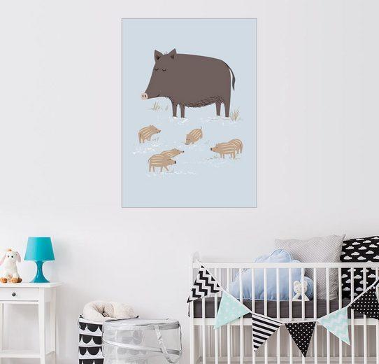 Posterlounge Wandbild - Sandy Lohß »wildschwein«
