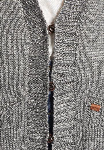 khujo Longstrickjacke NISHA, mit aufgesetzten Taschen