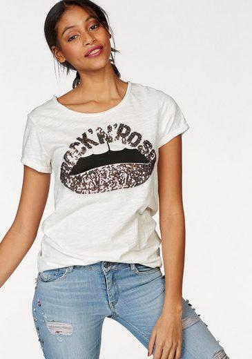Le Temps Des Cerises T-Shirt ROSELIPS, mit Pailletten-Applikation