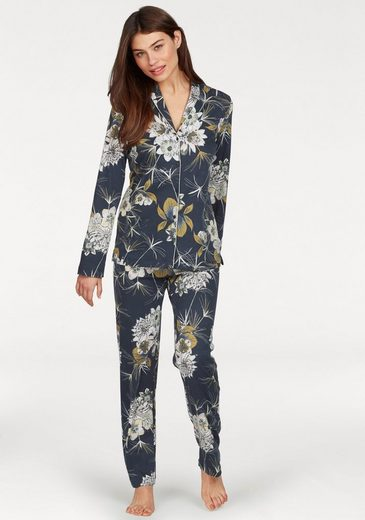 CALIDA Pyjama, im klassischer Form mit Blumenprint