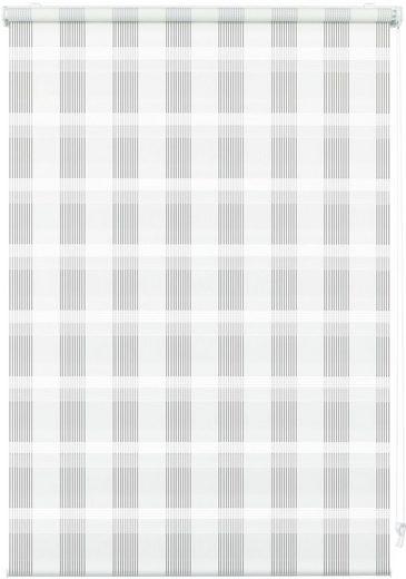 Doppelrollo »EASYFIX Doppelrollo Karo«, GARDINIA, Lichtschutz, ohne Bohren, im Fixmaß