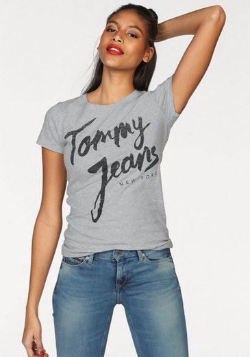 TOMMY JEANS Rundhalsshirt, mit Logo-Frontprint
