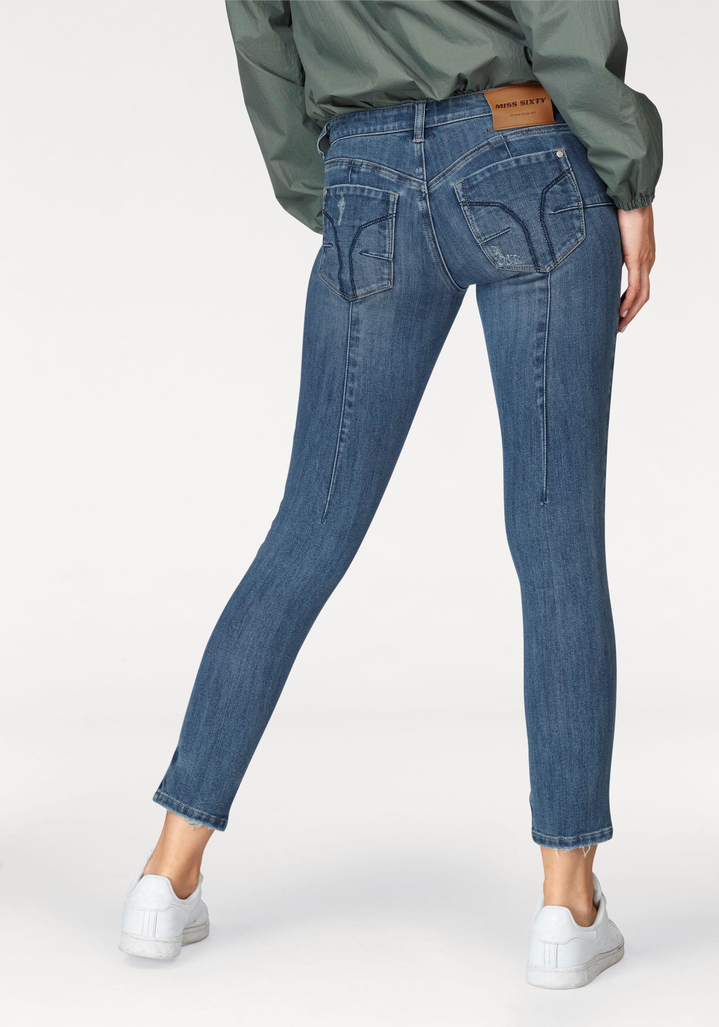 Miss Sixty Skinny-fit-jeans »blue Attack« Im Modischen Corsagen-look Dark-blue