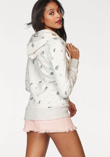 Ragwear Kapuzensweatshirt Angel Zip, mit Alloverprint