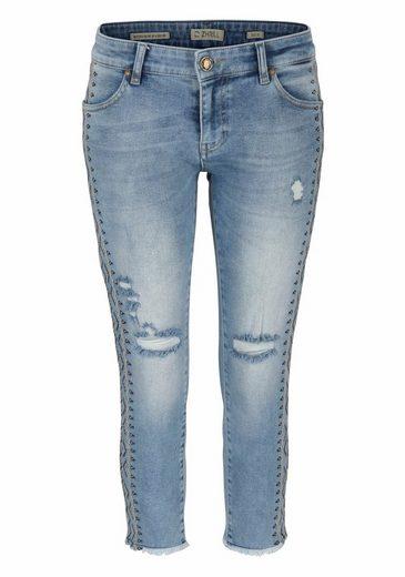 Zhrill Ankle-Jeans ANITA, mit Seitenstreifen im Ethno-Look