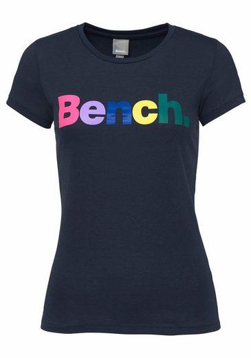 Bench Rundhalsshirt, mit Logo Print