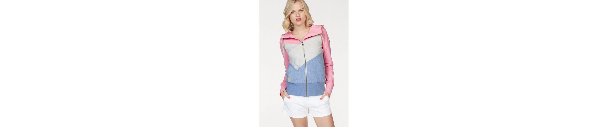 Ragwear Kapuzensweatshirt Viola Block Zip, mit Colourblocking Optik