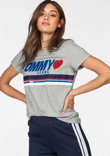 TOMMY JEANS Rundhalsshirt, mit leicht glänzendem Print