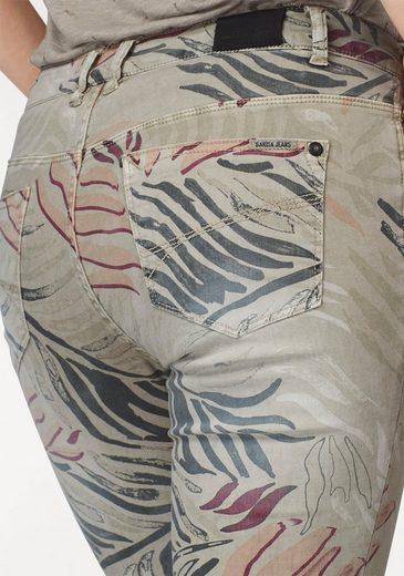 Garcia Skinny-fit-Jeans, mit Palmenprint