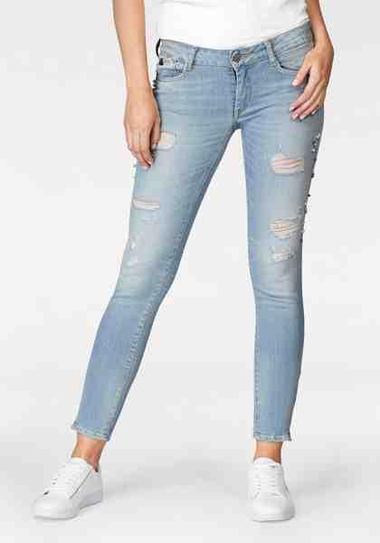 Le Temps Des Cerises Skinny-fit-Jeans »DIAMS«, mit Perlendetails