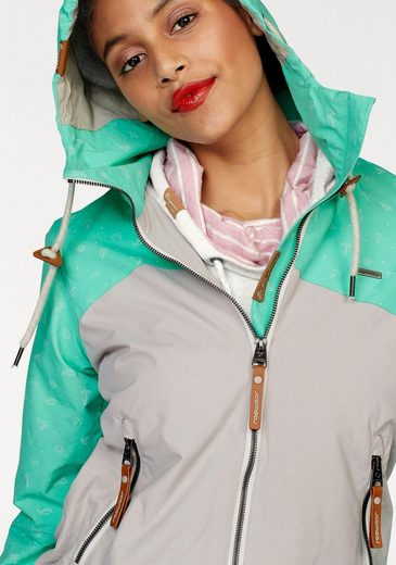 Ragwear Blousonjacke Nuggie B, im Colourblock-Design